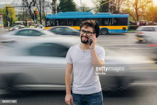 Teenager talking on cell phone