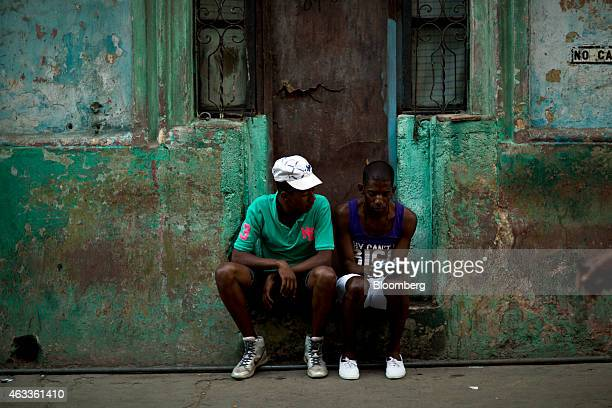 A teenager uses a mobile phone in Havana Cuba on Sunday Feb 1 2015 US companies will be permitted to export to Cuba telecommunications equipment and...