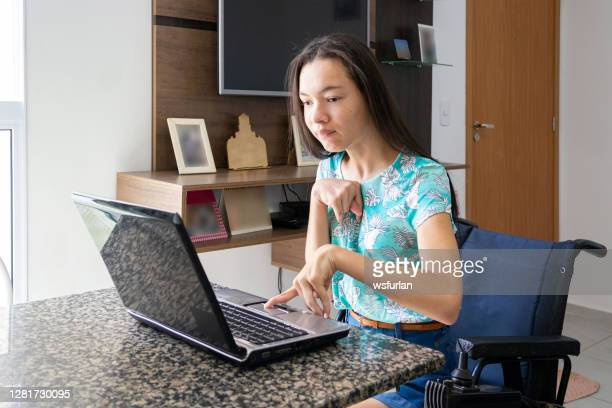 teenager with disability - persons with disabilities stock pictures, royalty-free photos & images