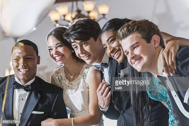 teenagers and young adults in formalwear - prom stock pictures, royalty-free photos & images