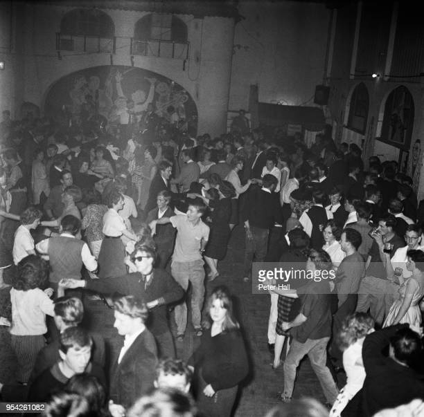 Teenagers at a Sunday night rave at a jazz club at the Eel Pie Island Hotel London 28th August 1960 The Hotel is on Eel Pie Island in the River...