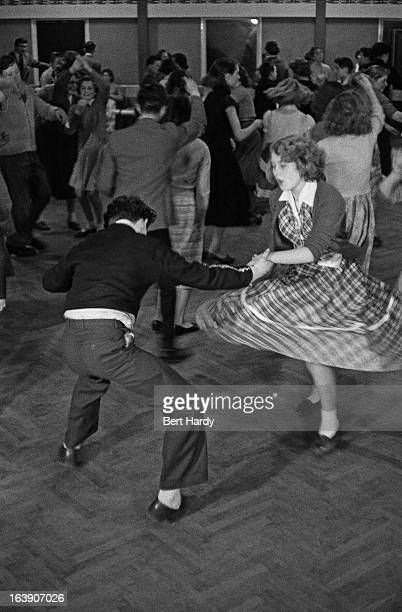 Teenagers at an evening dancing session at a Birmingham Comprehensive School 1st March 1957 Original publication Picture Post 8859 The Truth About...