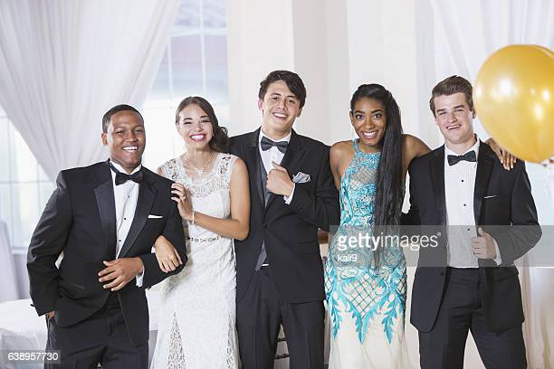 Teenagers at prom