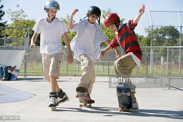 Teenagers at the Skate Park
