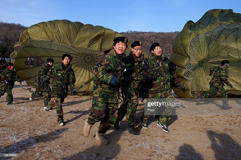 Teenagers Participate In Survival Exercise At South Korean Military