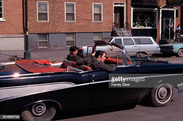 Teenagers Cruising in 1957 Chevy