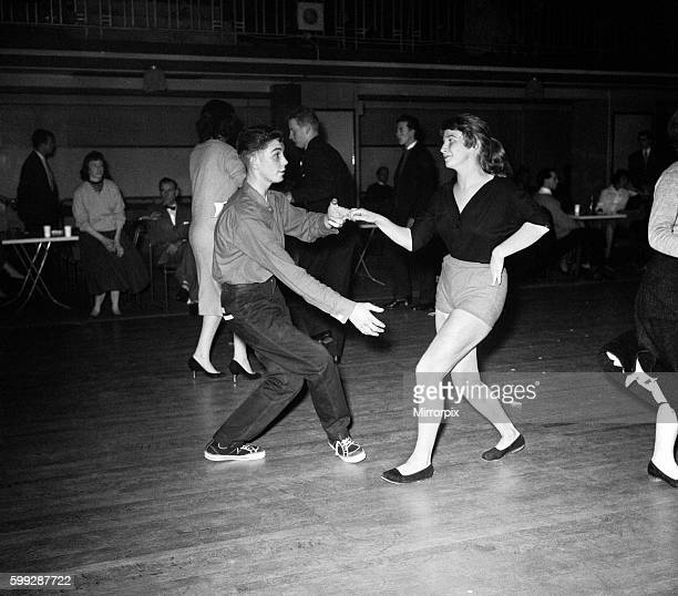 Teenagers dancing during the Jazz jive gala at Seymour Hall in London 14th November 1957
