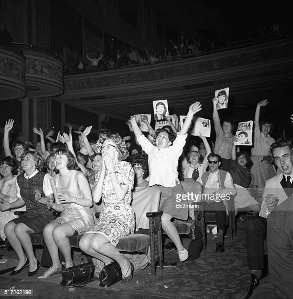 Teenagers go wild over the Dave Clark Five at the Donnelly Memorial Theater in Boston