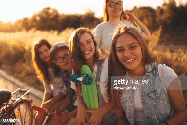 Teenager hängen out