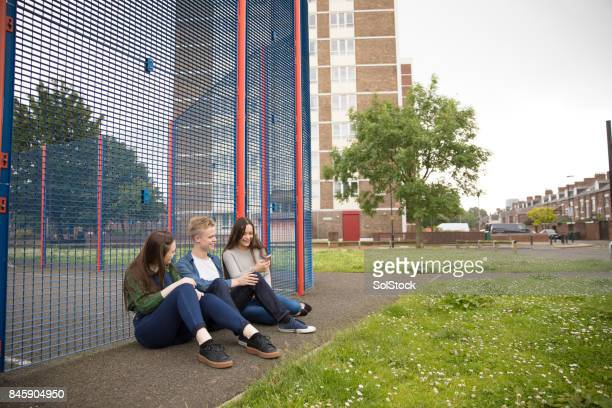 Teenagers Hanging Out