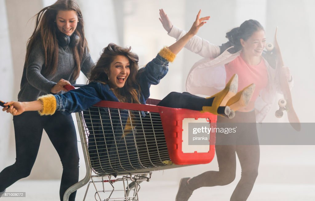 Teenagers having fun : Stock Photo