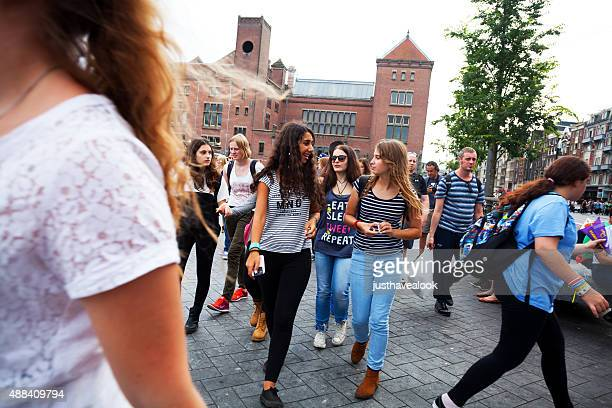 teenagers in amsterdam - 21st century stock pictures, royalty-free photos & images