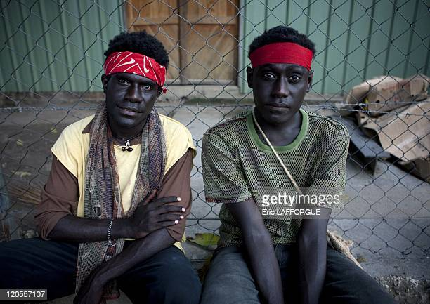 Teenagers in Bougainville Papua New Guinea on October 10 2009 Hubert and George are students George speaks like Michael Jackson Many young men have...