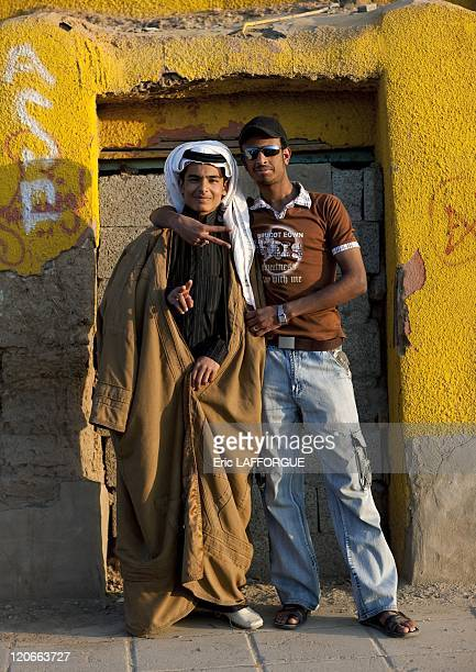 Teenagers in Saudi Arabia on January 18 2010
