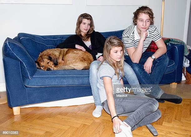 Teenagers in sofa