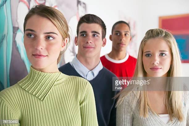 Teenagers Looking at Art
