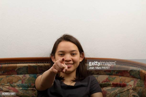 teenager's portrait - jean marc payet stockfoto's en -beelden