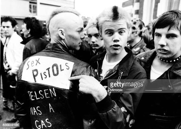 Teenagers Punk Rockers Sex Pistols fans.