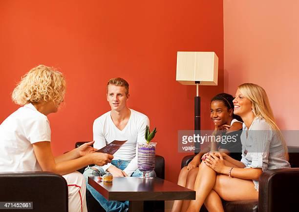 Teenagers Visit Dentist Office