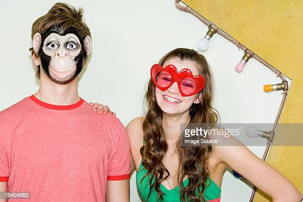 teenagers wearing costumes - monkey suit stock pictures, royalty-free photos & images