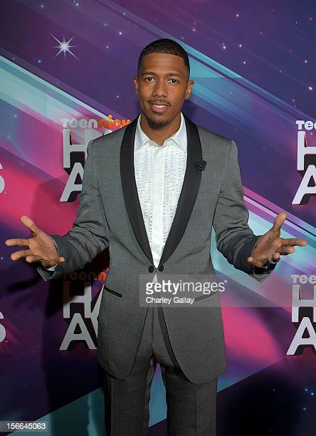TeenNick Chairman and HALO Awards host Nick Cannon arrives at Nickelodeon's 2012 TeenNick HALO Awards at Hollywood Palladium on November 17, 2012 in...