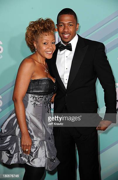 TeenNick Chairman Nick Cannon and his mother Beth Hackett arrive at the 3rd Annual TeenNick HALO Awards at Hollywood Palladium on October 26 2011 in...