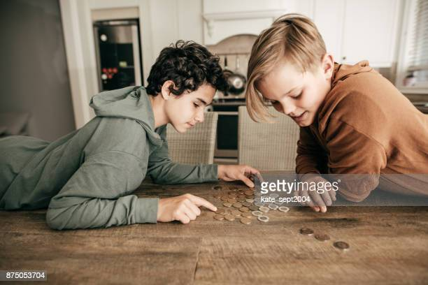 Teens counting savings