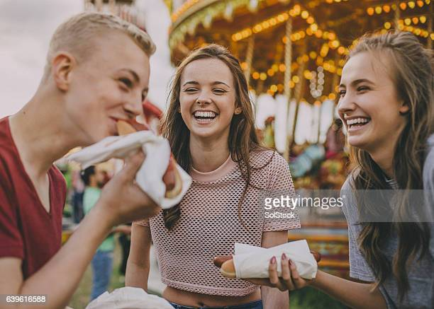 Teens Eating Hotdogs!