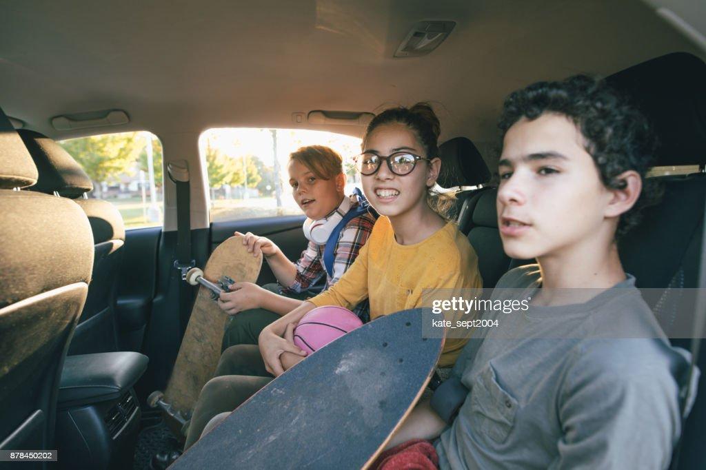 Teens having fun : Foto stock