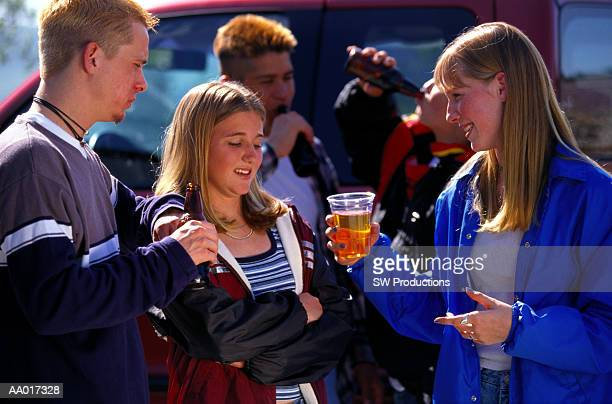 Teens Pressuring Girl to Drink