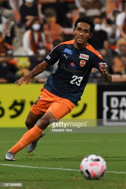 Teerasil of Shimizu S-Pulse in action during the J.League Meiji Yasuda J1 match between Shimizu S-Pulse and Yokohama FC at IAI Stadium Nihondaira on...