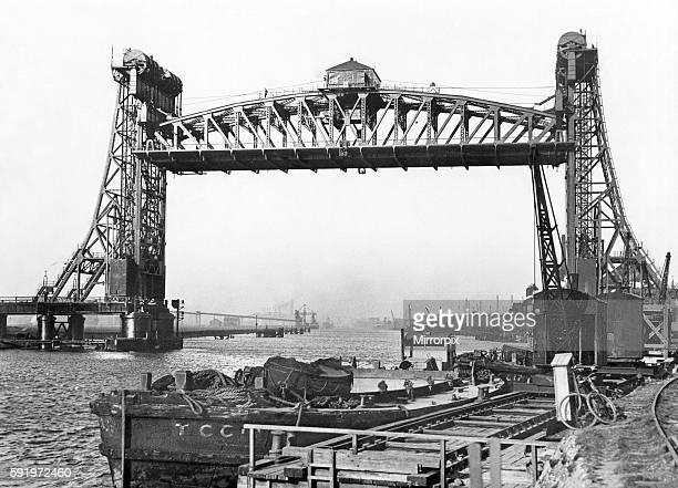 Tees Newport Bridge, Stockton-on-Tees, Middlesbrough, North Yorkshire. 31st August 1936.