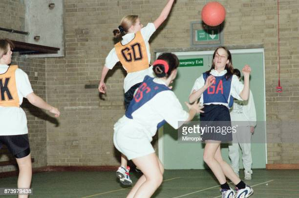 Teesside Junior Netball league at Brackenhoe School Middlesbrough 11th March 1997 Brackenhoe v Castaway