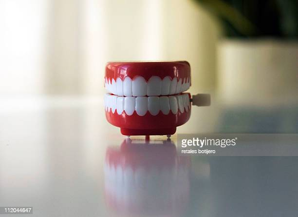 teeth - wind up toy stock photos and pictures