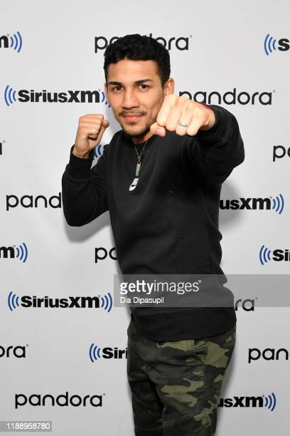 Teófimo López visits SiriusXM Studios on November 20, 2019 in New York City.