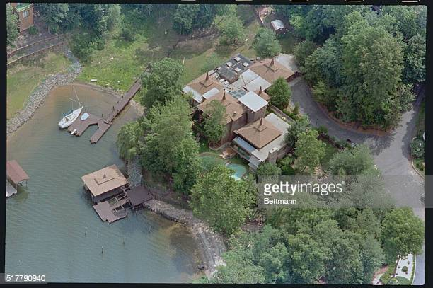 The controversial million dollar PTL personage currently occupied by Jim and Tammy Bakker is shown here in a June 20 aerial photograph