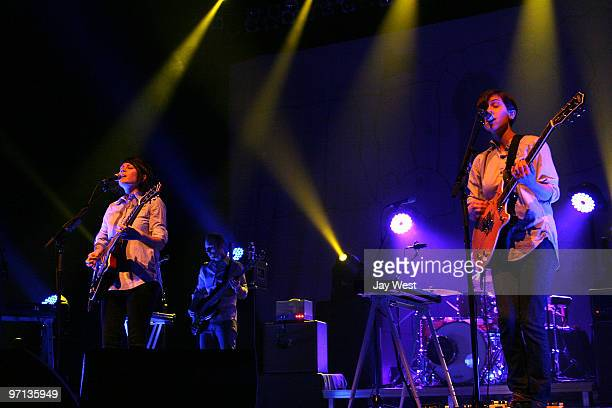 Tegan and Sara perform in concert at The Bass Concert Hall on February 26 2010 in Austin Texas