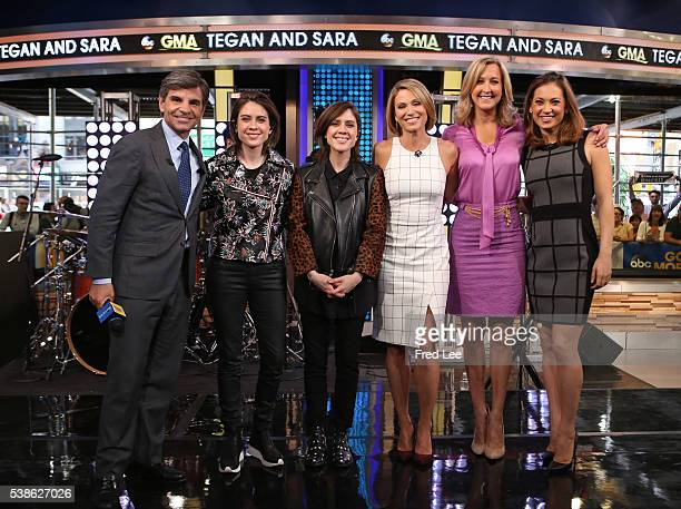 AMERICA Tegan and Sara perform live on 'Good Morning America' 6/6/16 airing on the ABC Television Network GEORGE