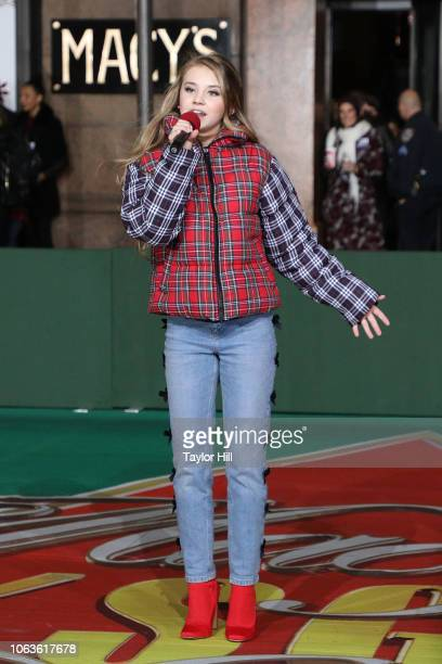Tegan Marie attends Day 1 of 2018 Macy's Thanksgiving Day Parade Rehearsals at Macy's Herald Square on November 19 2018 in New York City
