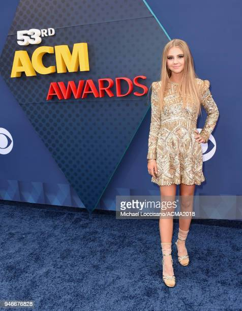 Tegan Marie attends the 53rd Academy of Country Music Awards at MGM Grand Garden Arena on April 15 2018 in Las Vegas Nevada
