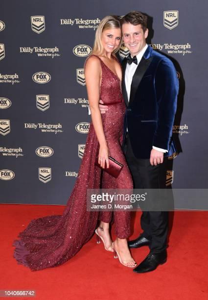 Tegan Martin and Blake Worrall Thompson attend the 2018 Dally M Awards on September 26 2018 in Sydney Australia