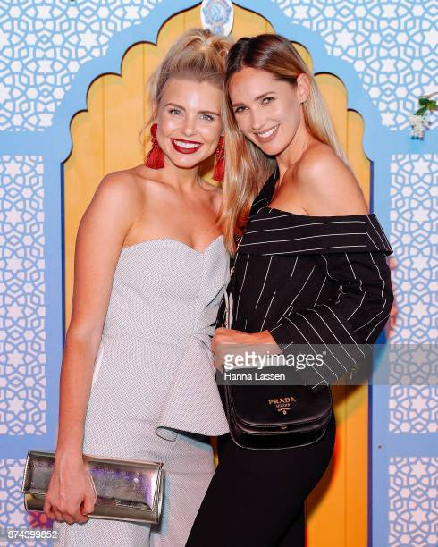 Tegan Martin and Nikki Phillips attend the Bombay Sapphire Project Botanicals Launch on November 15 2017 in Sydney Australia