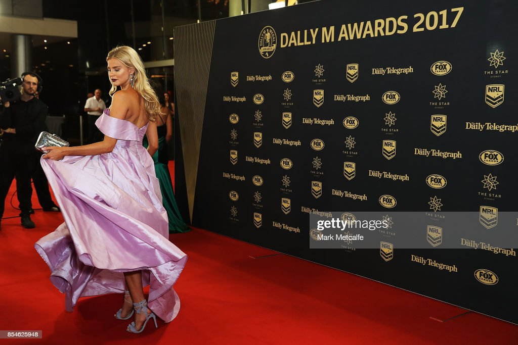 Tegan Martin arrives ahead of the 2017 Dally M Awards at The Star on September 27, 2017 in Sydney, Australia.