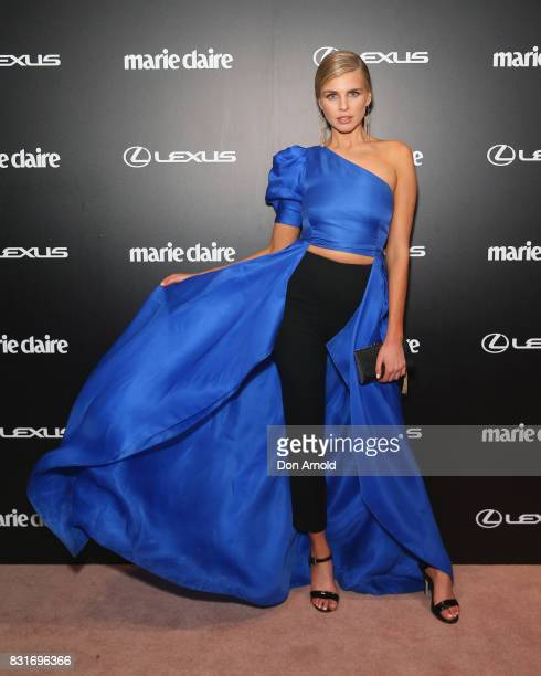Tegan Martin arrives ahead of the 2017 Prix de Marie Claire Awards on August 15 2017 in Sydney Australia