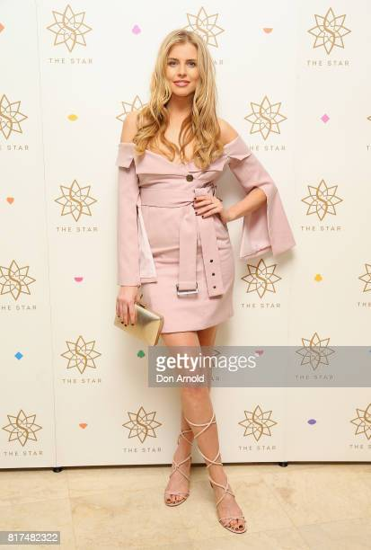 Tegan Martin arrives ahead of the Studios At The Star Launch at The Star on July 18 2017 in Sydney Australia