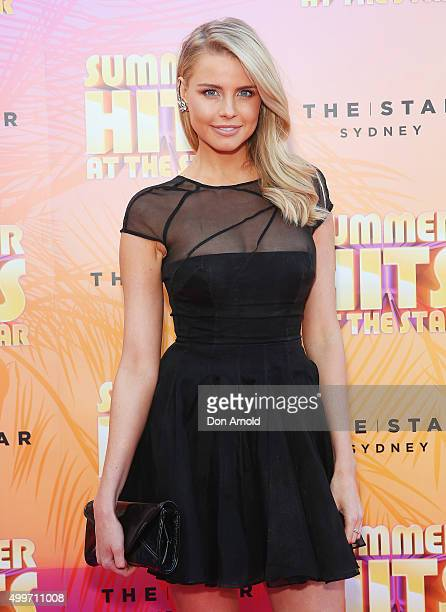 Tegan Martin arrives ahead of the Summer Hits At The Star launch party on December 3 2015 in Sydney Australia