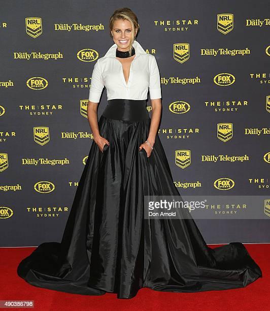 Tegan Martin arrives at the 2015 Dally M Awards at Star City on September 28 2015 in Sydney Australia
