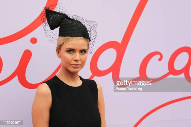 Tegan Martin on Derby Day at the 2019 Melbourne Cup Carnival at Flemington Racecourse in Melbourne Australia- PHOTOGRAPH BY Chris Putnam / Barcroft...