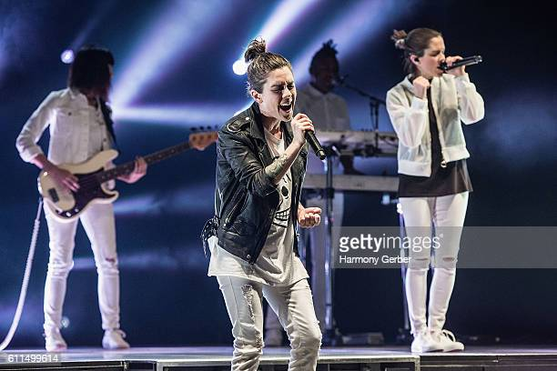 Tegan Quin and Sara Quin perform at The Wiltern on September 29 2016 in Los Angeles California