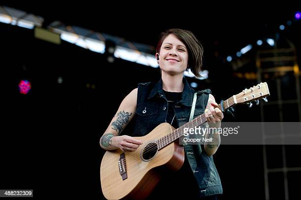 Tegan Quin of Tegan and Sara performs during Suburbia Music Festival on May 4 2014 in Plano Texas
